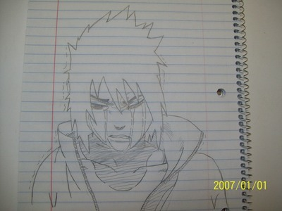 Sasuke crying drawing