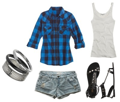 Summer blue plaid