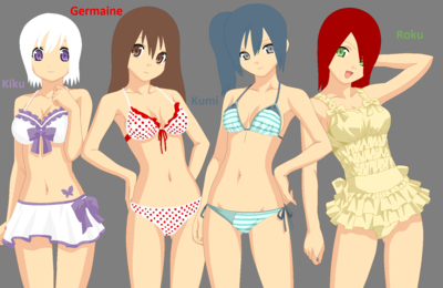 I made this picture of my favorite roleplay characters...GUH. KUMI TURNED OUT SO CUUUTE.