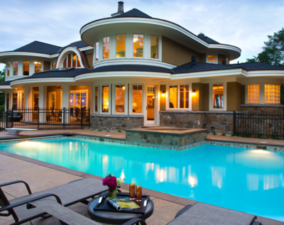 Pool exterior.