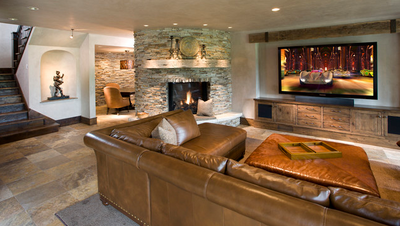 Basement: Family room.