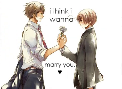 I think I wanna marry you, Lovi...