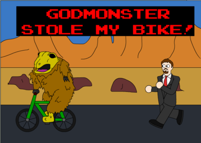 Godmonster Stole My Bike!