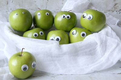 Googly eyed apples