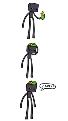 This is an Enderman and her hat (by askenderbro on tumblr)