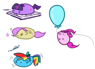 Blob Ponies!