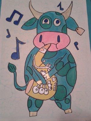Saxophone Cow!